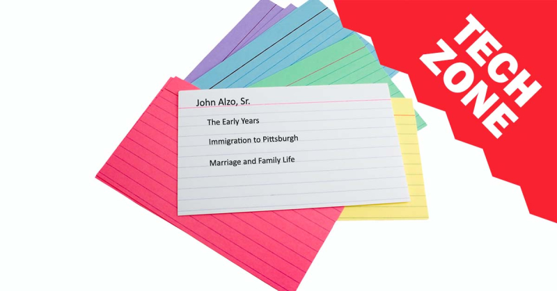 New TechZone Video - Get Organized Using Scrivener Printable Index Cards by Lisa Alzo