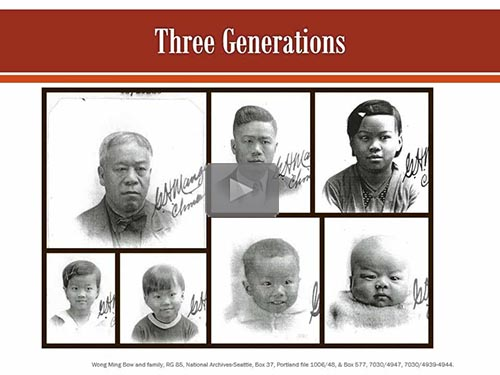 Finding Genealogical Data in the Chinese Exclusion Act Case Files - free webinar by Trish Hackett Nicola, CG now online for limited time