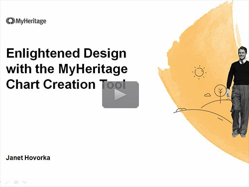 Enlightened Design with the MyHeritage Chart Creation Tool - free webinar by Janet Hovorka now online