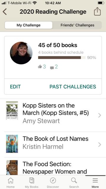 Goodreads 2020 Challenge 1