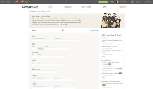 MyHeritage BMD
