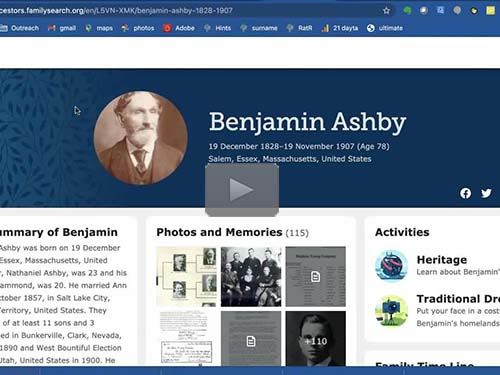 FamilySearch.org - 10 Links You Have to Try - free webinar by Devin Ashby now online for limited time