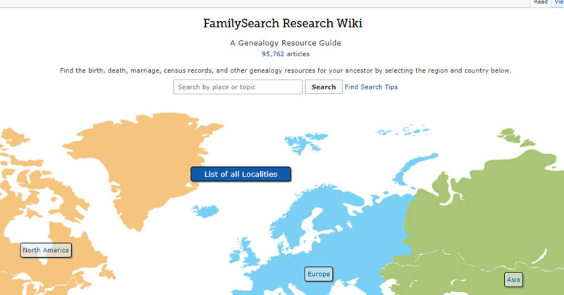 Rediscovering the FamilySearch Research Wiki