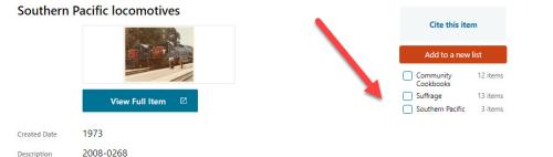 DPLA List button