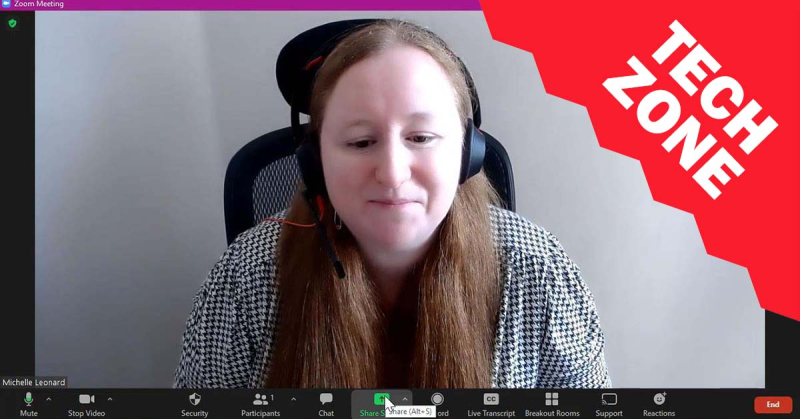 New TechZone Video - How to Record Virtual Presentations via Zoom by Michelle Leonard