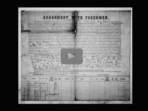 Freedmen's Bureau Labor Contracts - free webinar by Bernice Alexander Bennett, now online for limited time
