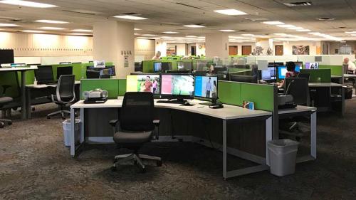 New Workstations at the FHL. Photo courtesy of Gena Philibert-Ortega